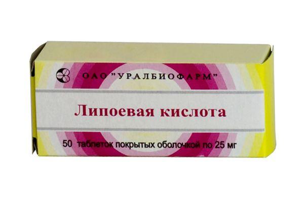 Липоевая кислота в таблетках