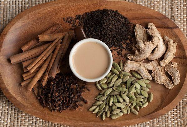 ингредиенты для индийского чая