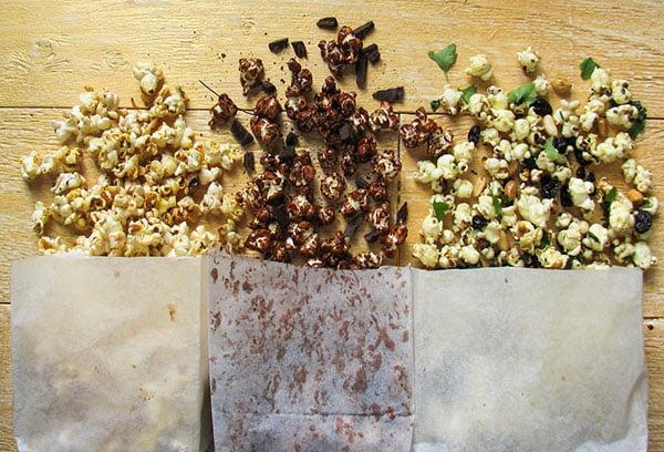Разные виды попкорна