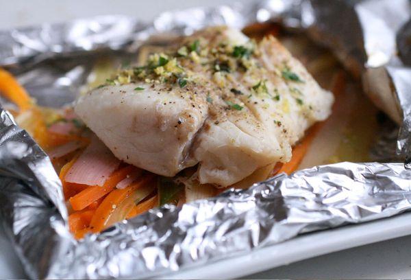 Морской заяц, запеченный в духовке