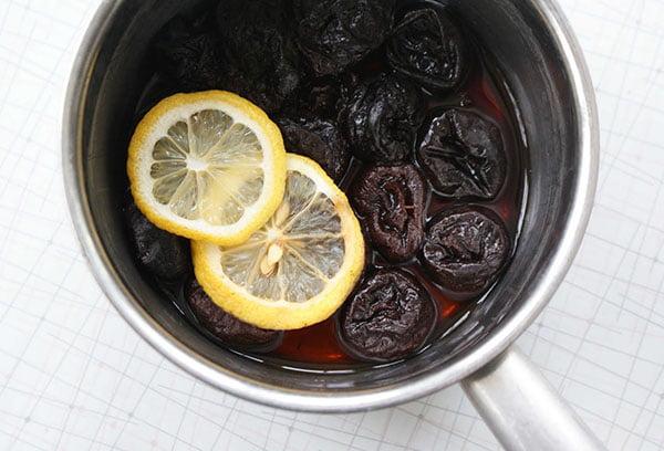 Приготовление отвара из чернослива с лимоном