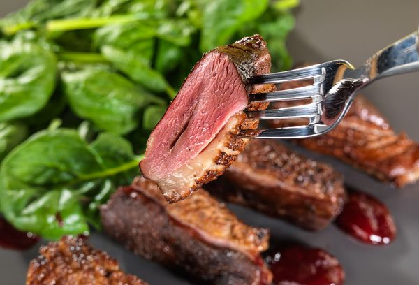 темное утиное мясо