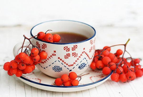Чай с рябиной