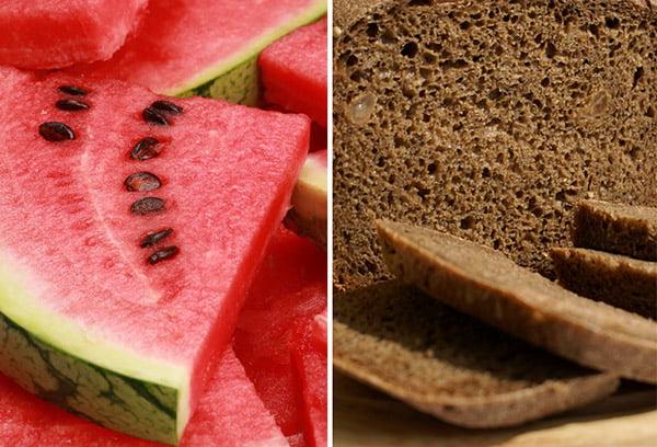 Арбуз и черный хлеб