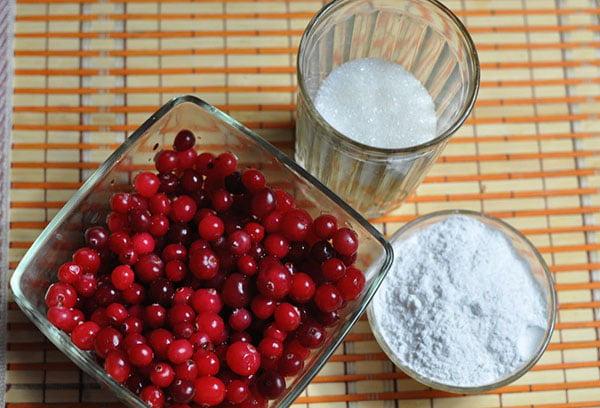 Ингредиенты для фруктового киселя