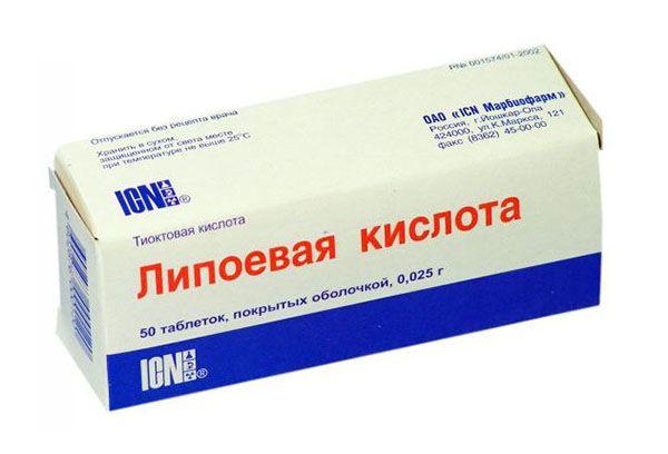 Применение Липоевой кислота