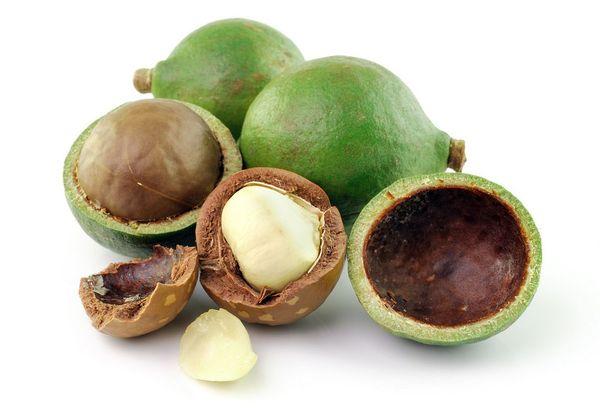 Зеленый орех макадамия