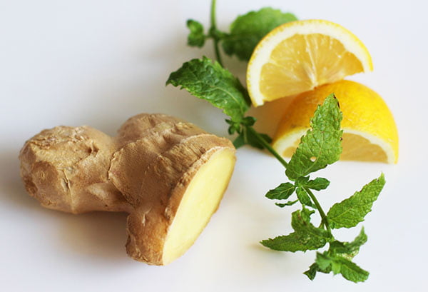 Имбирь, мята и лимон