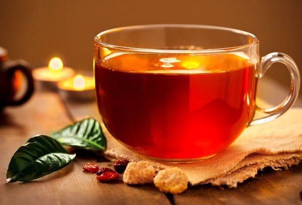 стеклянная чашка с чаем