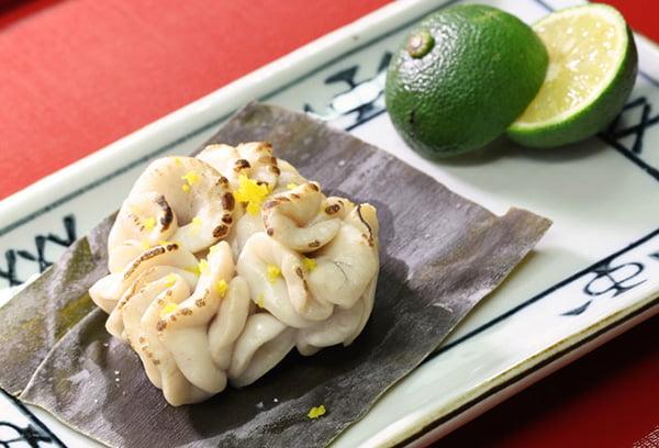 Японское блюдо из рыбной молоки