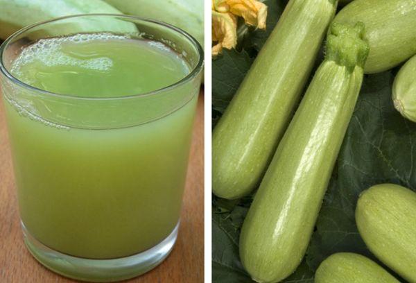 кабачки и сок в стакане
