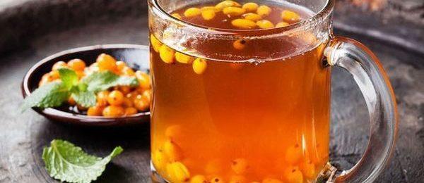 облепиховый сок в стакане