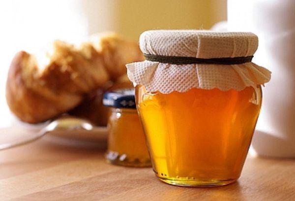 мед лесной в стеклянной банке