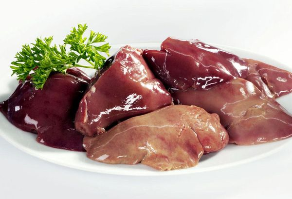 куски свиной печени