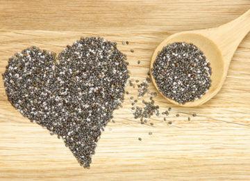 Сердечко из семян чиа