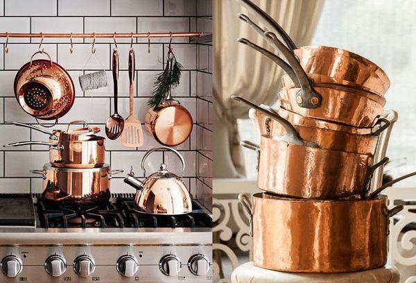 медные кухонные изделия