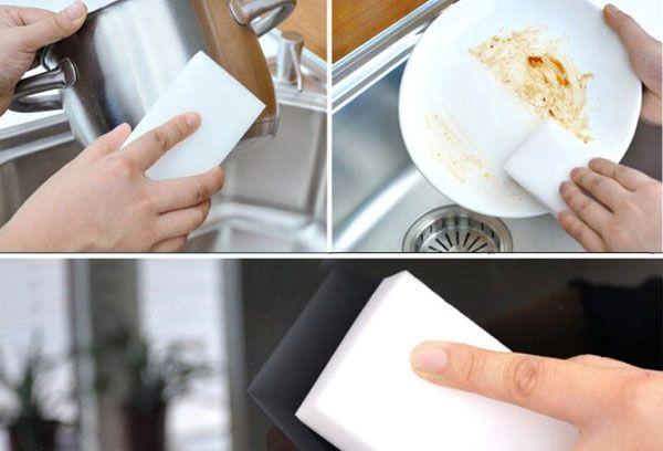 губки из меламина для мытья посуды