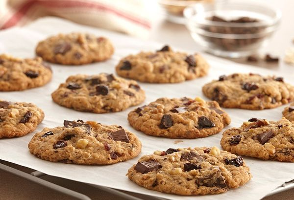 печенье из овсянки с шоколадом
