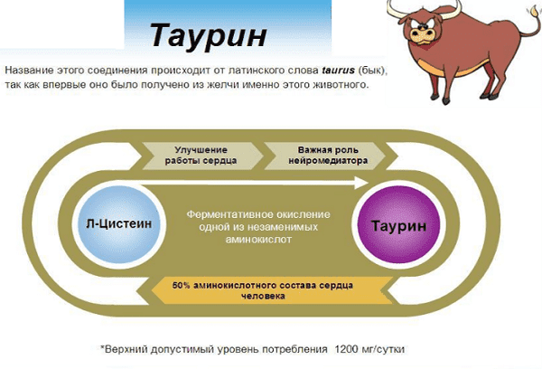 вещество таурин