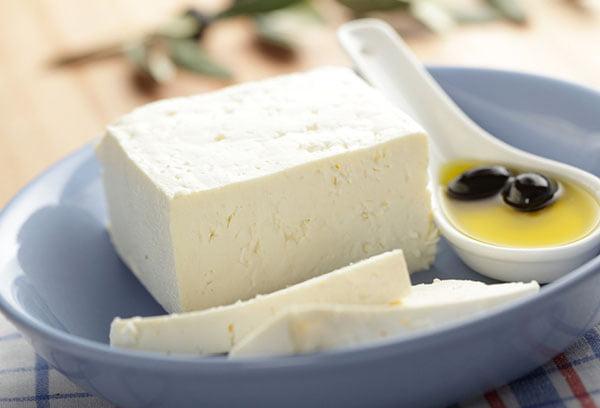 Брынза с оливковым маслом