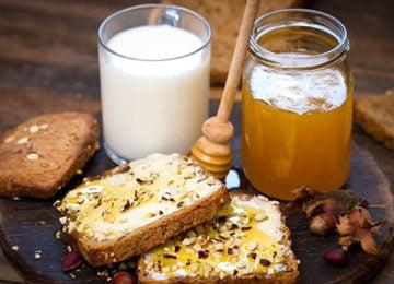 Молоко, мед и бутерброды