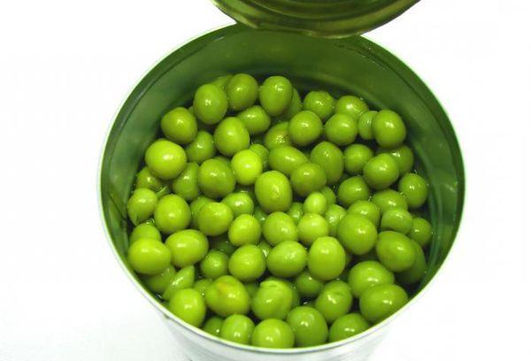Горошек зеленый в банке