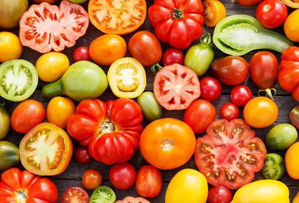Разные виды томатов