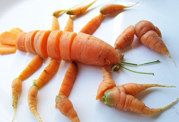 Рак из моркови
