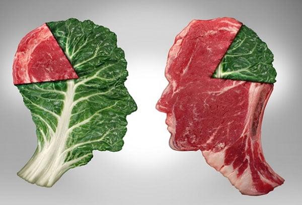 Доля мяса в рационе