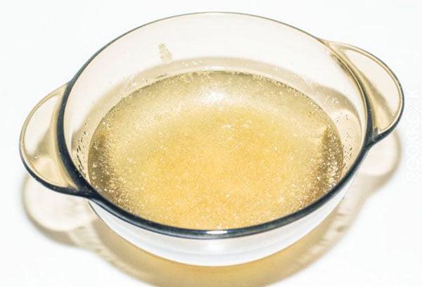 Набухание желатина в воде