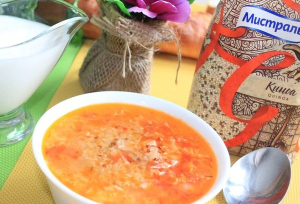Суп с киноа