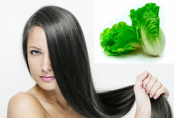 Салатный лист для волос