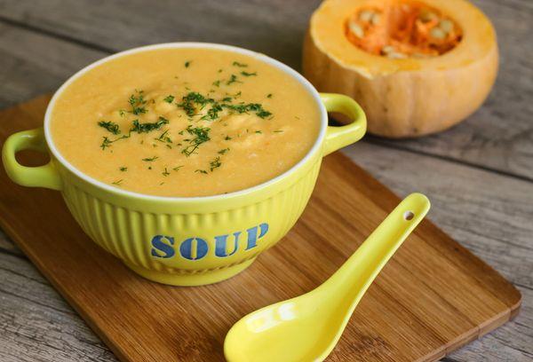 Крем-суп с тыквой и кешью