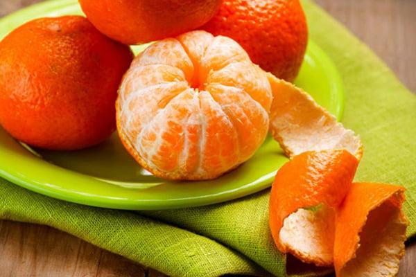 Свежие мандарины
