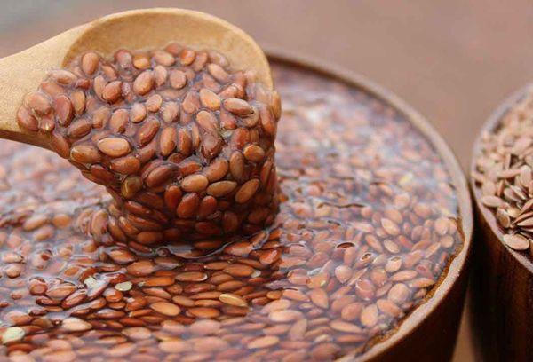 Замоченное льняное зерно