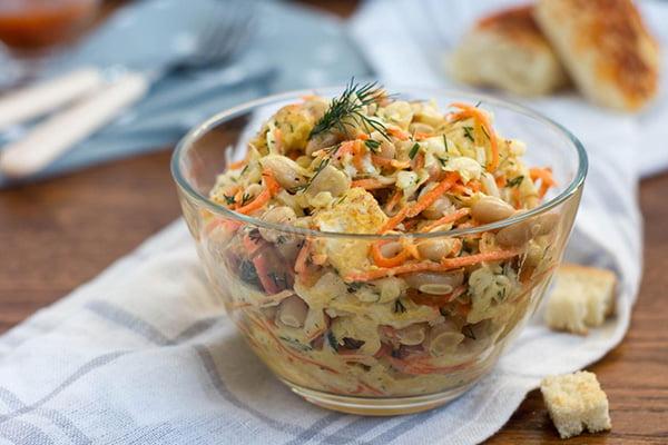 Салат с брюквой и морковью